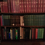 vintage leather bound books
