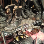 vintage motorcycle boots