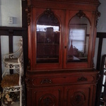 ornate carved hutch