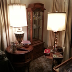 cabinetry & ornate lamps