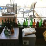 bottles & patio furniture