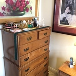 tall boy dresser & art