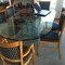 modern glass table & 8 chairs