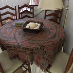 paisley and late Victorian table