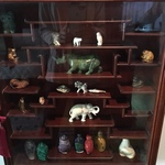 snuff bottles and Chinese display cabinet