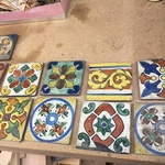 early colorful tiles