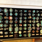 vintage turquoise & Native American rings