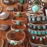 turquoise vintage Native American cuffs
