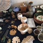 frogs and pottery
