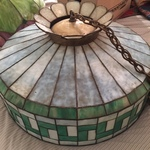 green stained glass lamp