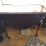 Queen Anne hoofed drop leaf table