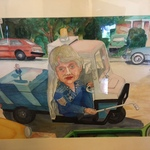 William L Clark watercolor of Shirley Dean, former Berkeley mayor