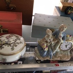 clock and jewelry boxes