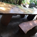 large craftsman plank table