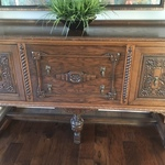early tiger wood sideboard
