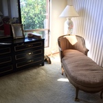 chaise lounge and dresser