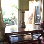large table & lamp