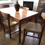 teak dining table set