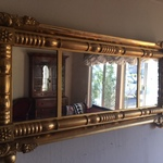 terrific vintage guilded mirror