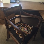 vintage embroidered chair