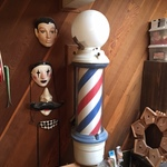 vintage large Barber pole