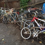 collection of vintage bikes
