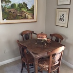 early small wooden table set