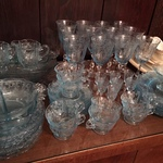 collectible blue glass