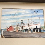 Nov Harbor Scene Original Art