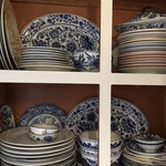 Alameda Blue And White Plates