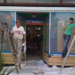 painting storefront